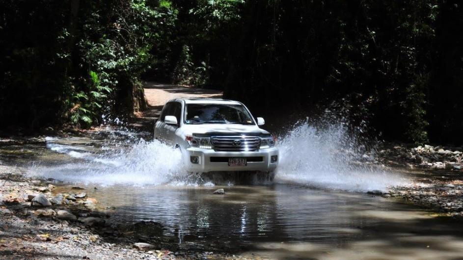 Australien Fahrt durchs Wasser