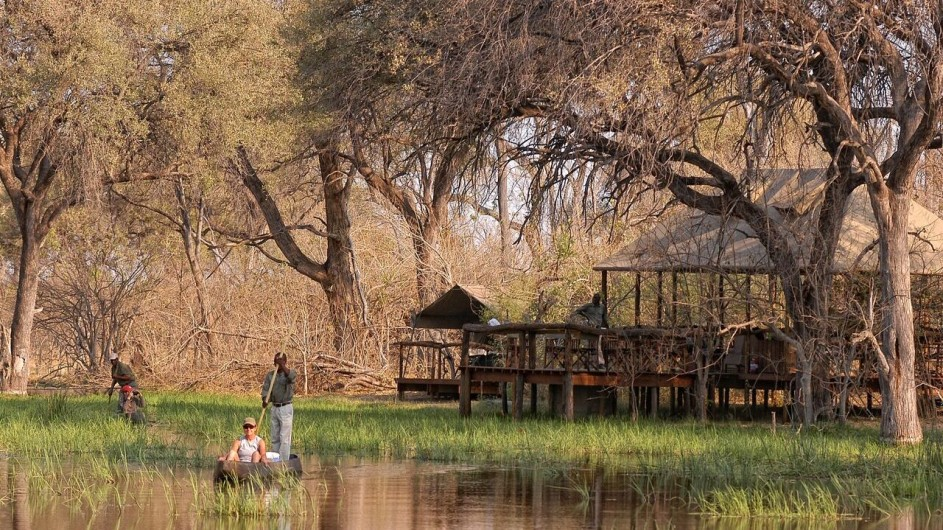 Botswana Khwai Tented Camp Mokoro Ausflug