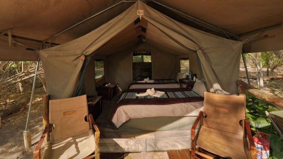 Botswana Khwai Tented Camp Zelt