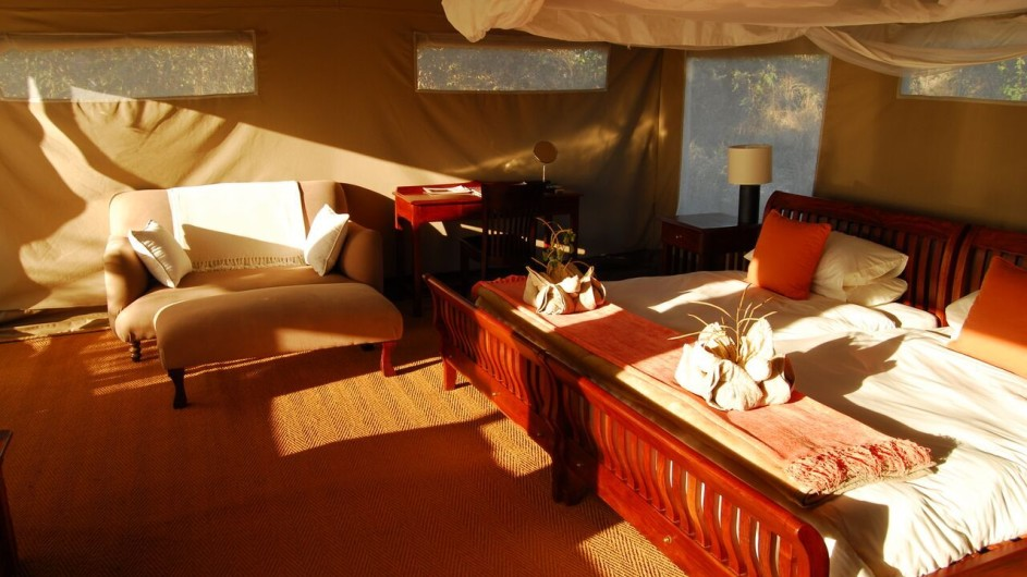 Botswana Linyanti Bush Camp Zelt