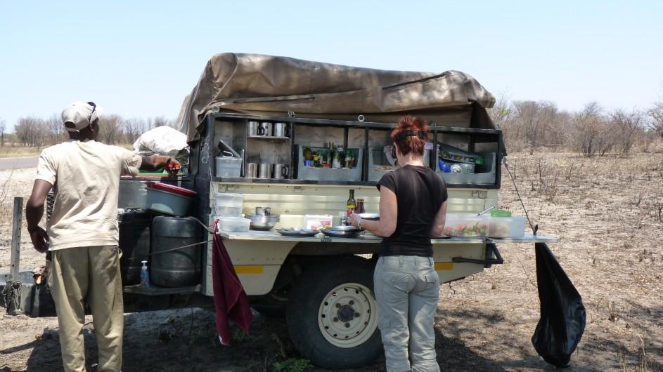 Botswana Essensfahrzeug