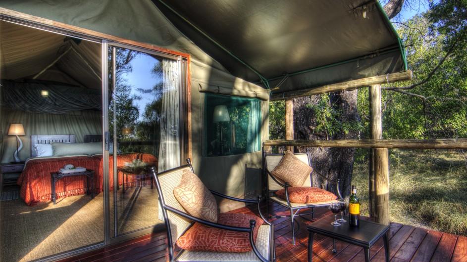 Botswana Camp Moremi Zimmeransicht