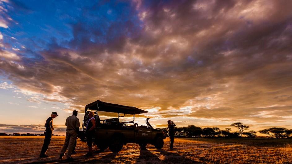 Botswana Nxai Camp Sundowner