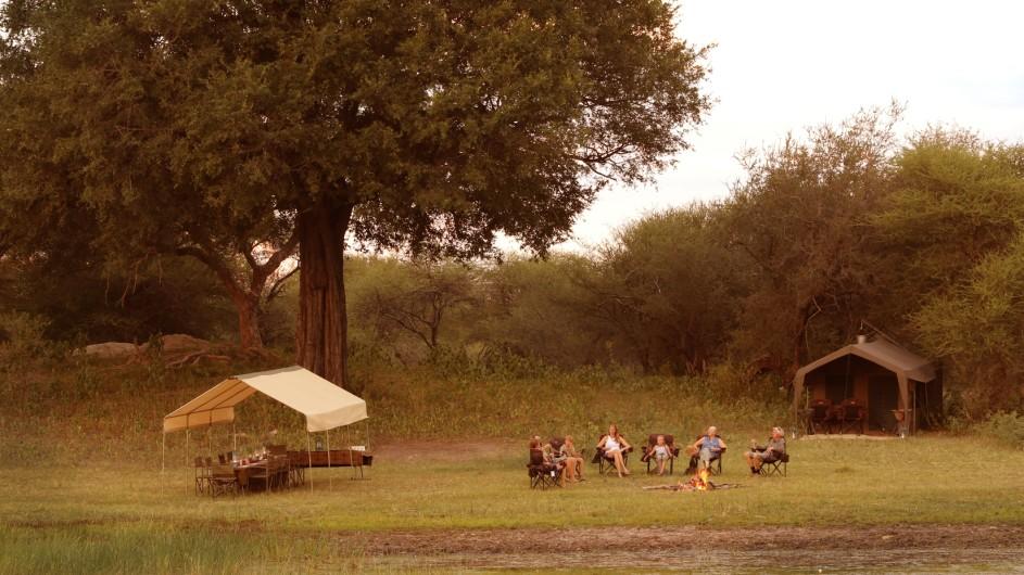 Botswana Letaka Safaris Camp Ansicht
