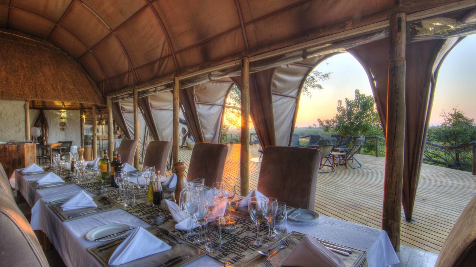Botswana Moremi Game Reserve Camp Okuti Dinner