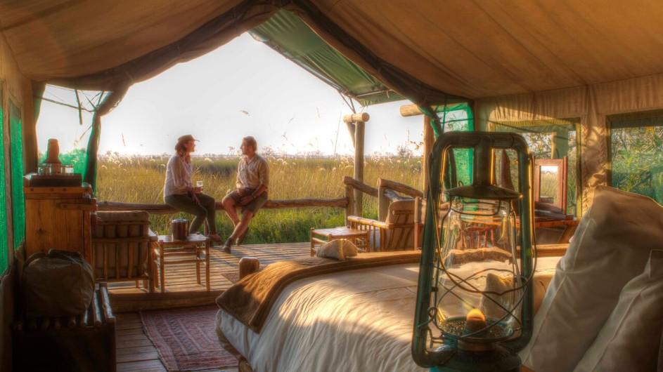 Botswana Moremi Game Reserve Camp Xakanaxa Zelt