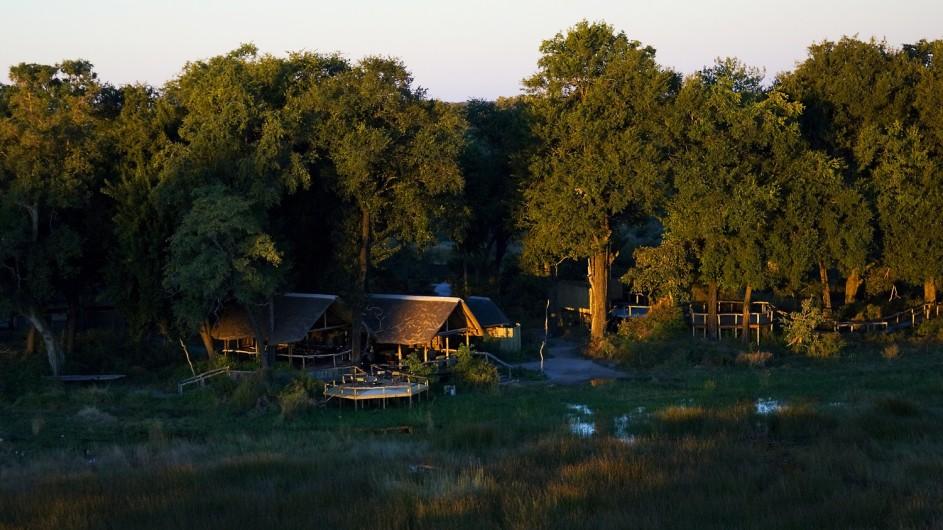 Botswana Okavango Delta Duba Plains Campansicht