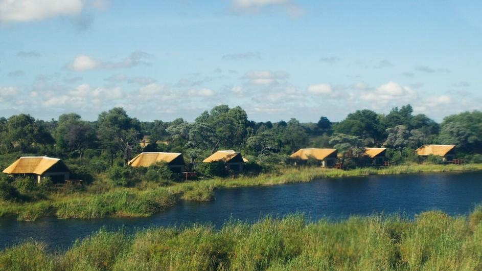 Botswana Okavango Delta Kwando Lagoon Camp Ansicht