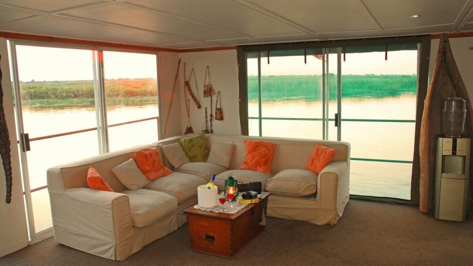 Botswana Kabbo Hausboot Lounge