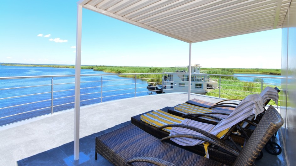 Botswana Chobe Princess Deck mit Aussicht