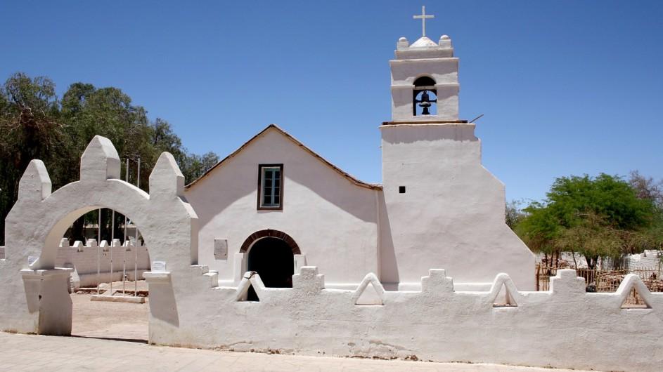 Chile Atacama Wüste Kirche in San Pedro de Atacama