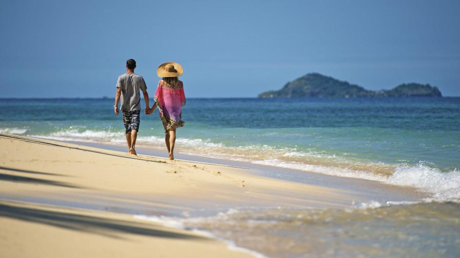 Fiji Pärchen am Strand