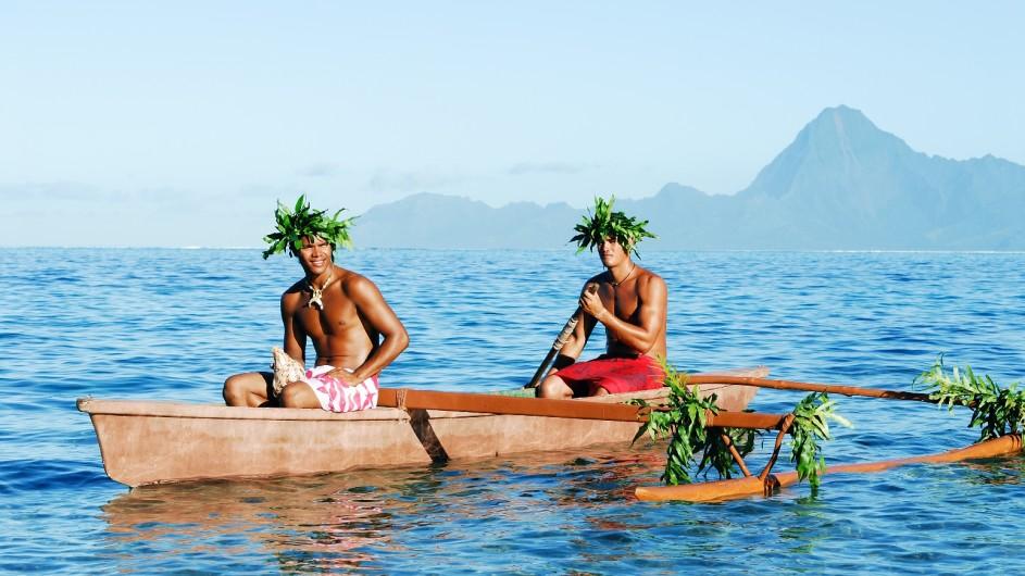 Französisch Polynesien Moorea Kanu