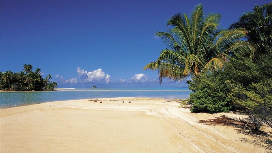 Französisch Polynesien Motu Strand