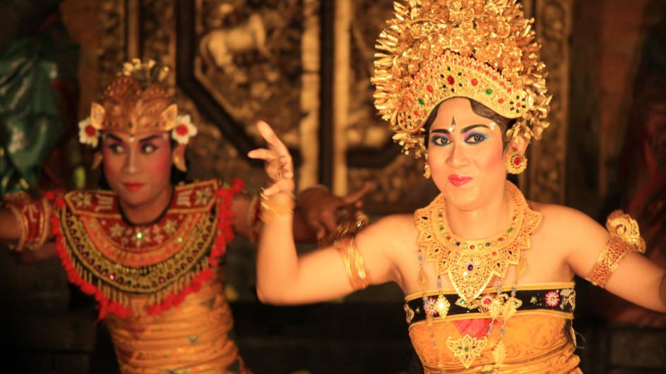 Indonesien Bali Tänzer imUbud Palace