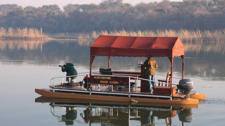 Namibia Caprivi Bootsausflug der Hakusembe River Lodge