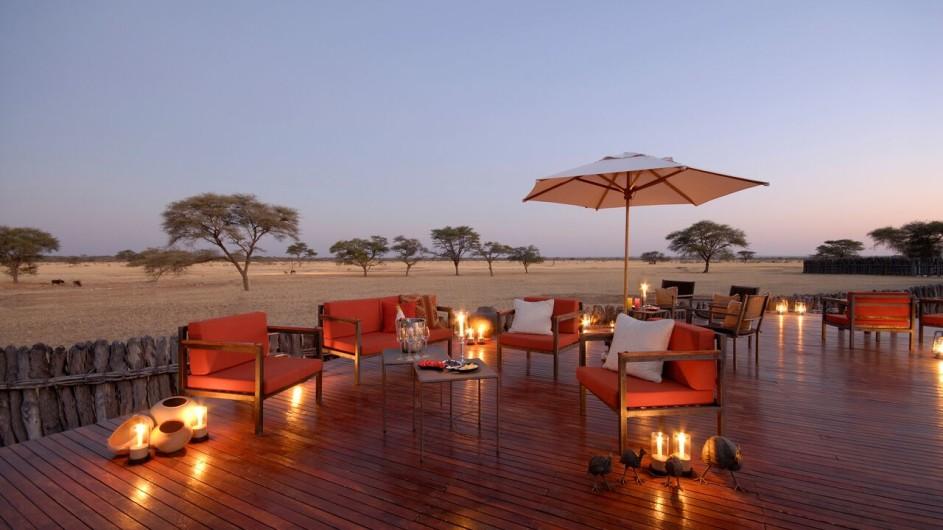 Namibia Terrasse der Frans Indongo Lodge