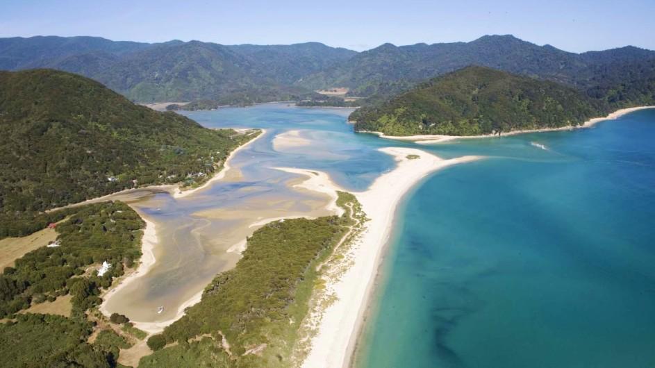 Neuseeland Abel Tasman Nationalpark Awaroa Strand