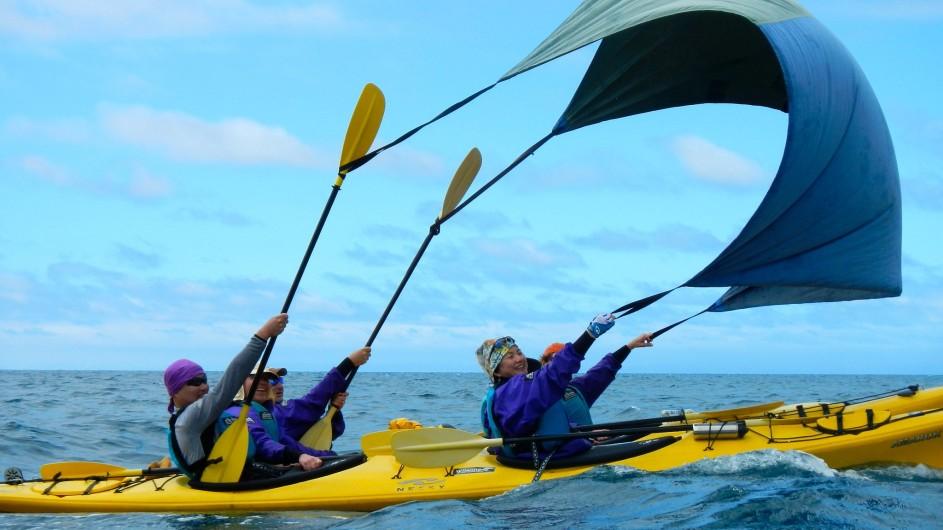 Neuseeland Abel Tasman Nationalpark Kayaksegel