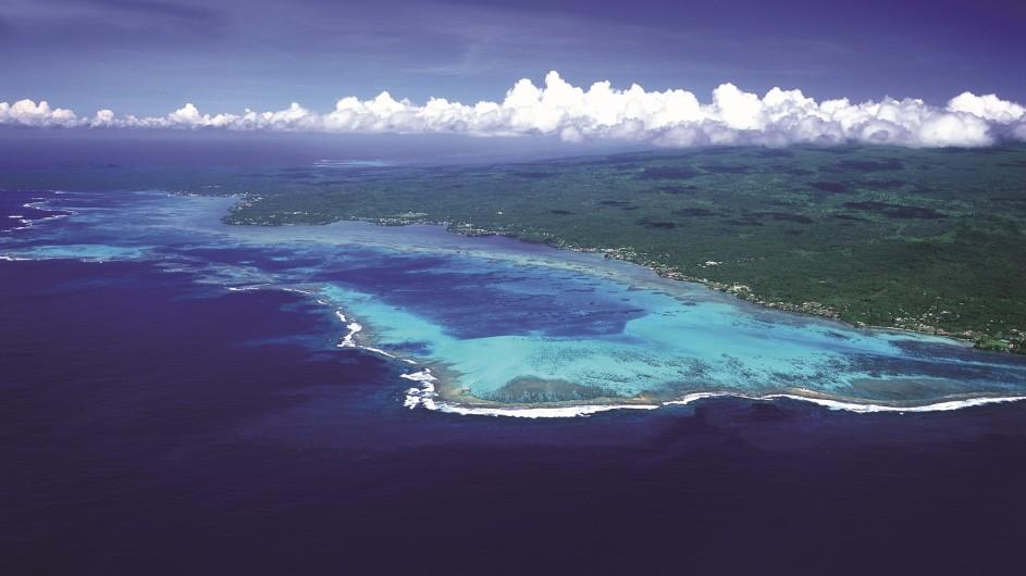 Samoa Savaii aus der Luft