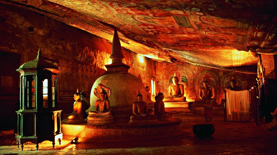 Sri Lana Dambulla Höhlentempel