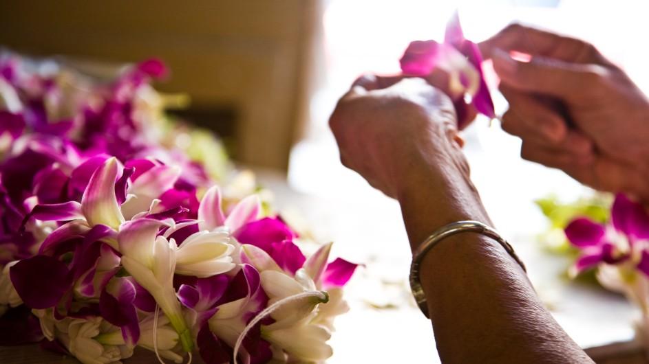 USA Hawaii Oahu Lei Blumenkette