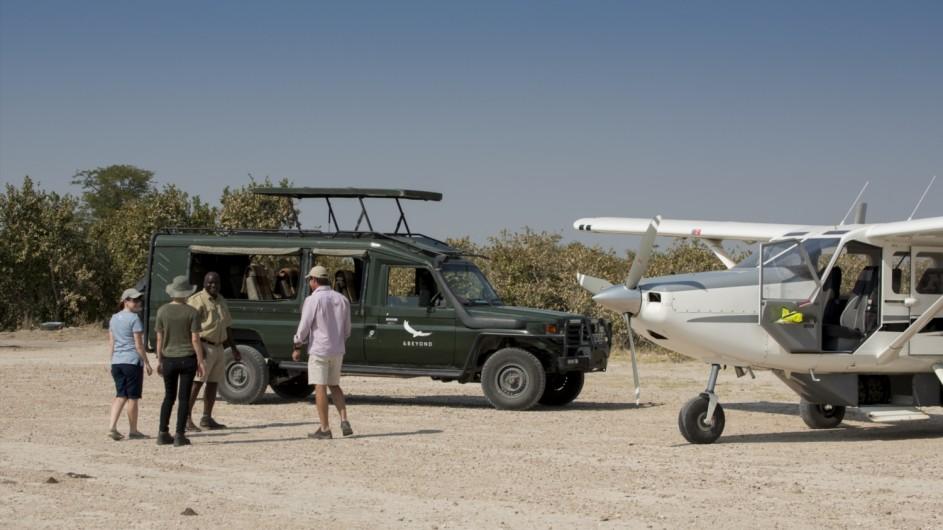 Botswana Expedition Anreise Flugzeug Okavango Delta