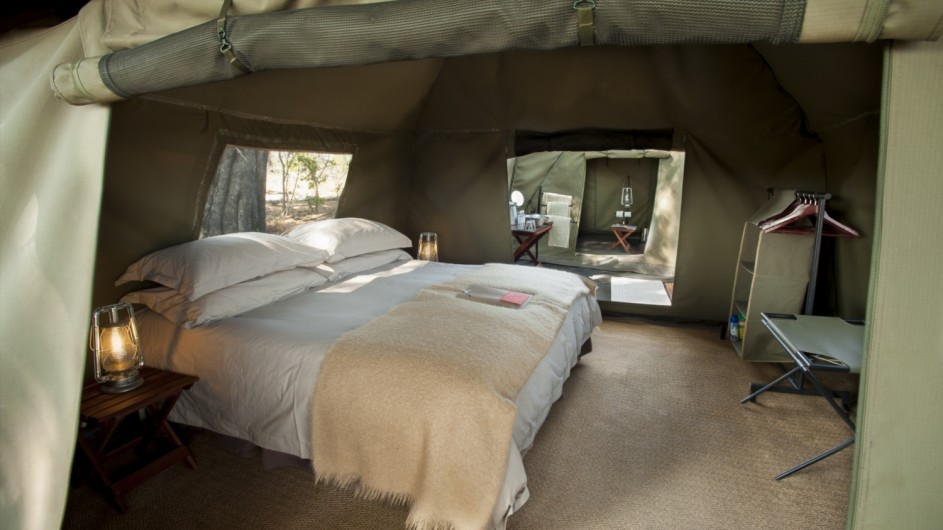 Botswana Expedition Zelt im Mobilen Camp andbeyond