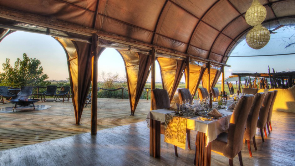 Botswana Moremi Game Reserve Okuti Dinner