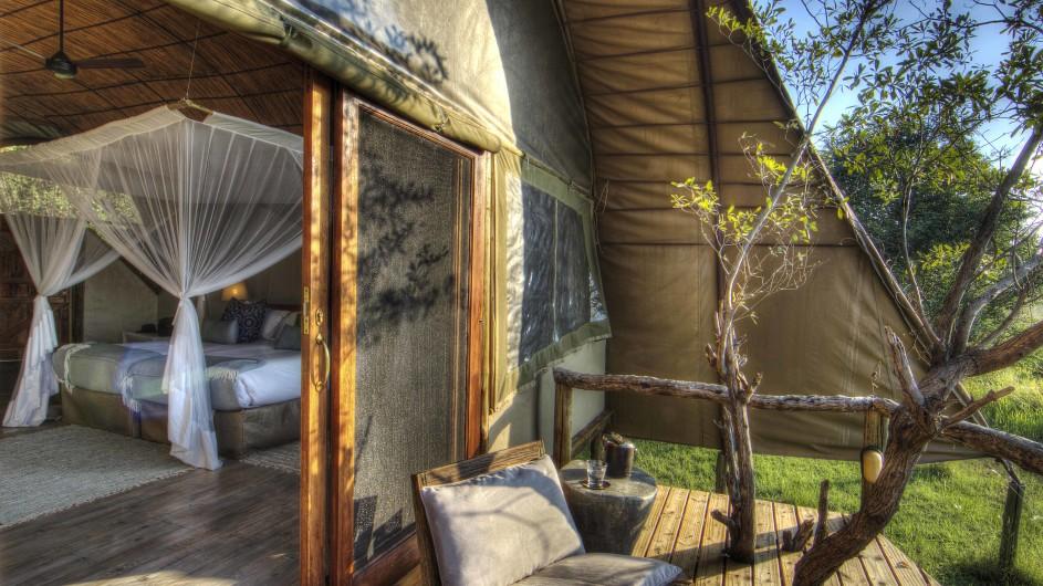 Botswana Moremi Game Reserve Okuti Zimmer