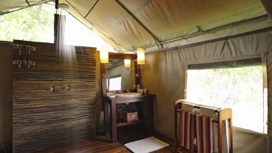 Botswana Okavango Delta Camp Nxageba Badezimmer