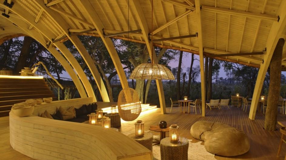 Botswana Okavango Delta Sadibe Lodge Lounge