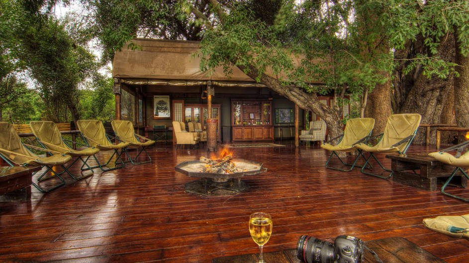 Botswana Okavango Delta Shinde Lagerfeuer