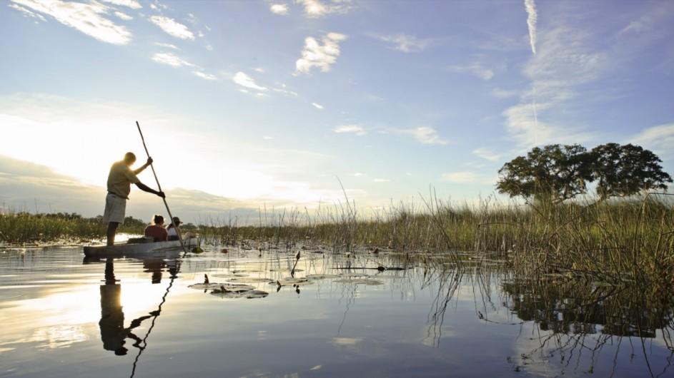 Botswana Okavango Delta Mokoro Ausflug Xaranna Camp