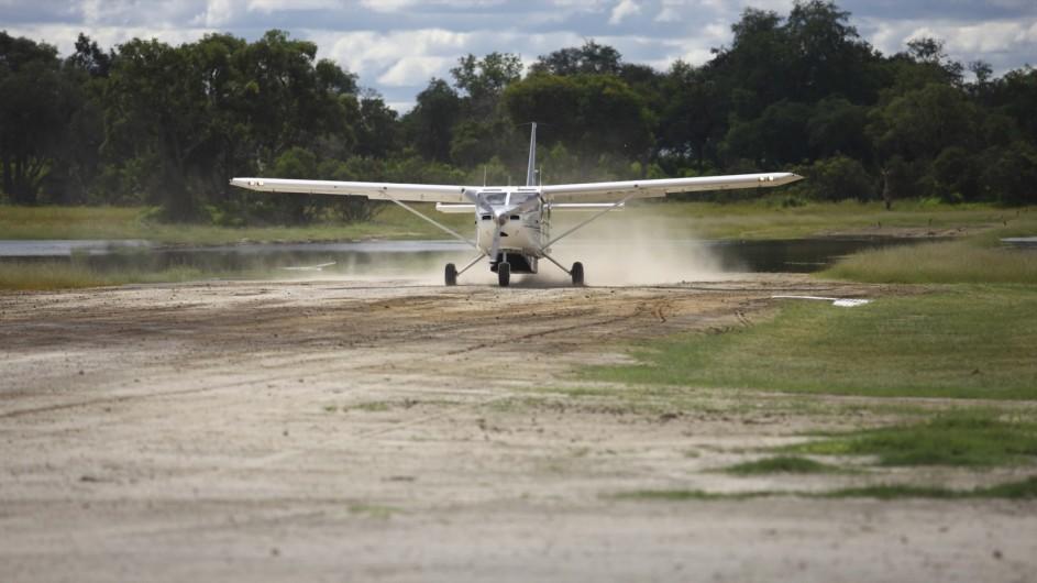 Botswana Okavango Delta Anreise Flugzeug