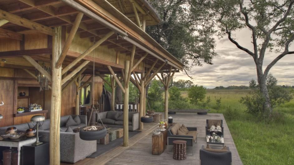 Botswana Okavango Delta Xudum Lodge Lounge