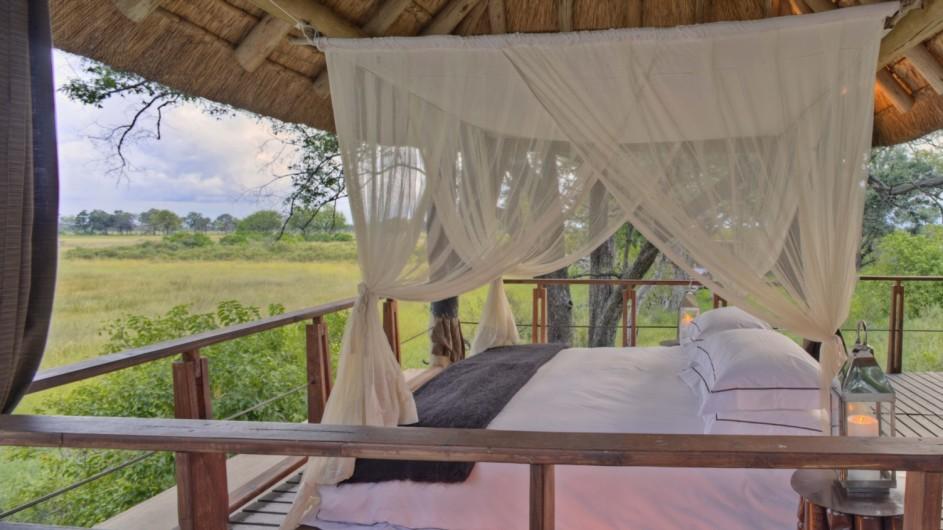 Botswana Okavango Delta Xudum Lodge Zimmer