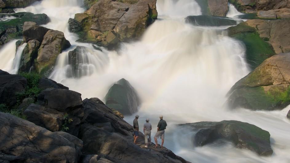 Malawi Mkulumadzi Lodge Kapichira Fälle im Majete Wildreservat