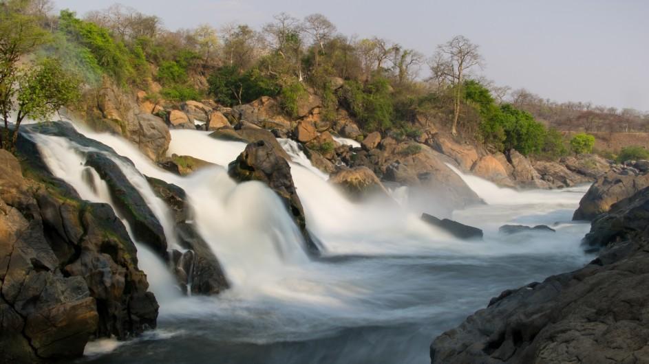 Malawi Majete Nationalpark Kapichira Fälle