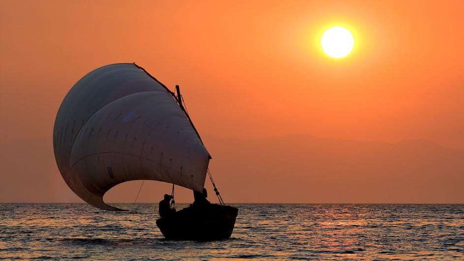 Malawi Pumulani Sonnenuntergang Dhow FAhrt