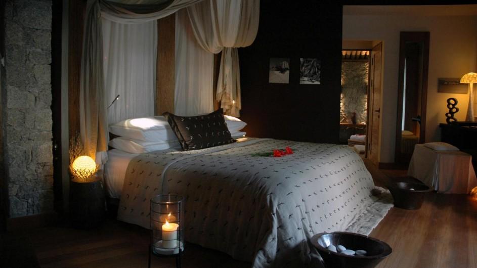 Seychellen La Digue Domaine de L´Orangeraie Villa de Charme Schlafzimmer