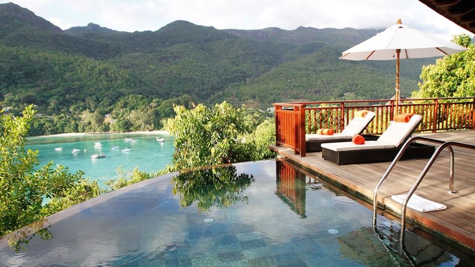 Seychellen Mahe Constance Ephelia Resort Hillside Villa Pool