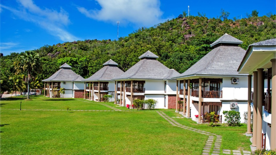 Seychellen Praslin Domaine de la Reserve Garten