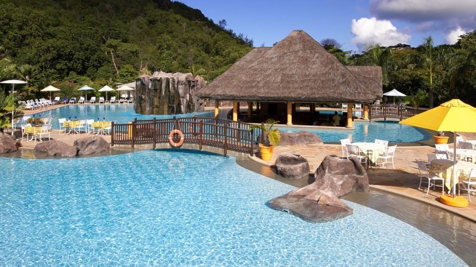 Seychellen Praslin Domaine de la Reserve Pool