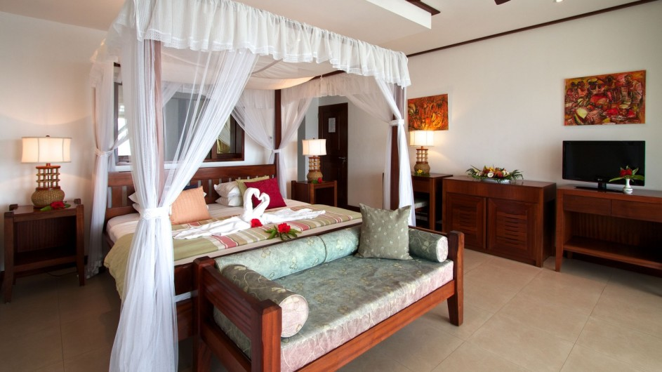 Seychellen Praslin Domaine de la Reserve Schlafzimmer