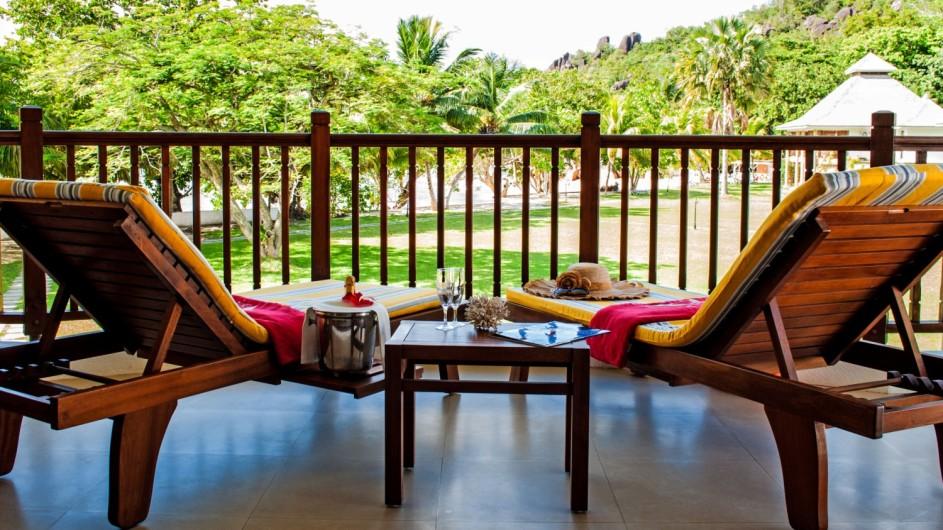 Seychellen Praslin Domaine de la Reserve private Terrasse