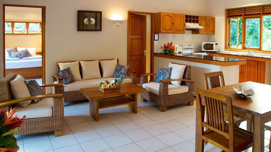 Seychellen Praslin Les Villas D´Or Apartment innen