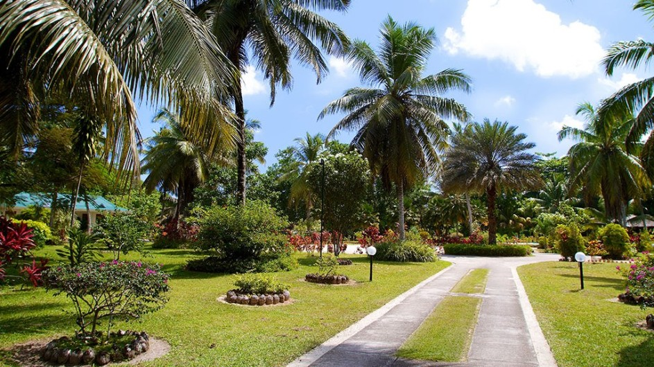Seychellen Praslin Les Villas D´Or Garten