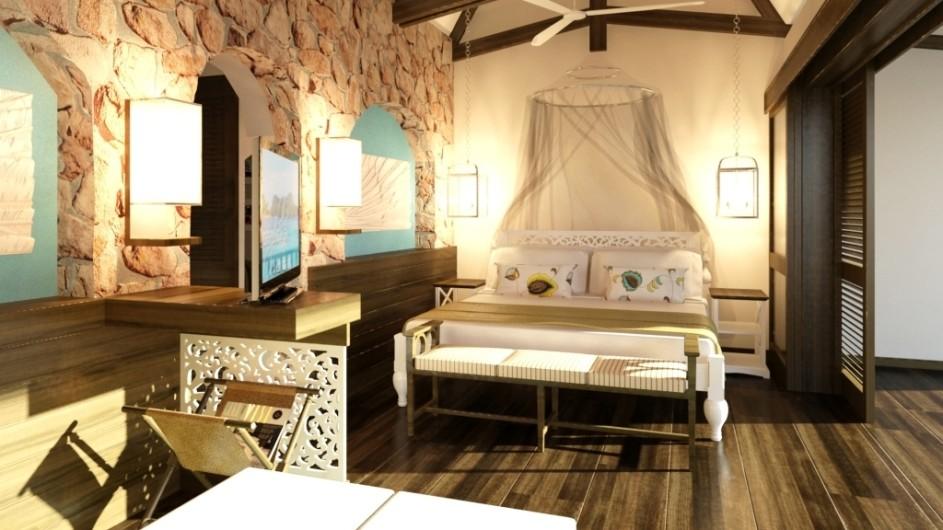 Seychellen Praslin Prasidse Sun Deluxe Zimmer Schlafzimmer