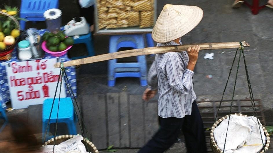 Vietnam Straßenverkäufer